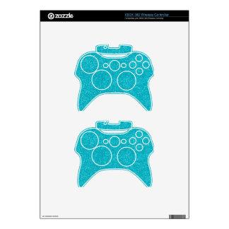 PANTONE Scuba Blue with fine Glitter Xbox 360 Controller Decal