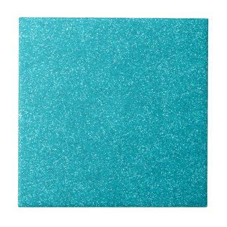 PANTONE Scuba Blue with fine Glitter Ceramic Tiles