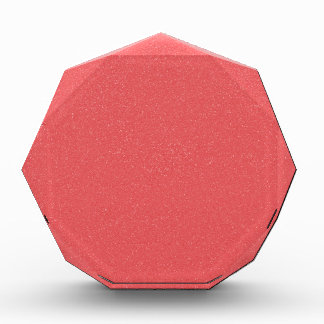 PANTONE Strawberry Ice Pink with faux fine Glitter Award