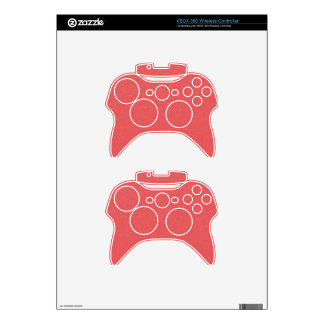 PANTONE Strawberry Ice Pink with faux fine Glitter Xbox 360 Controller Skin