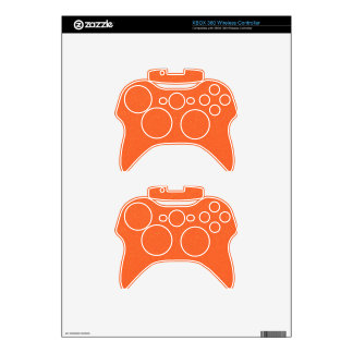 PANTONE Tangerine ORANGE with faux fine Glitter Xbox 360 Controller Decal