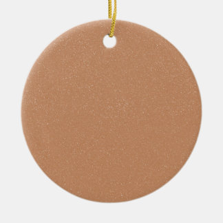PANTONE Toasted Almond Pink with faux fine Glitter Ceramic Ornament