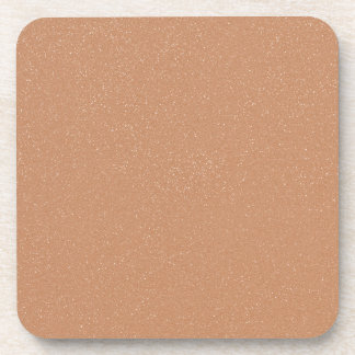PANTONE Toasted Almond Pink with faux fine Glitter Beverage Coaster