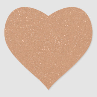 PANTONE Toasted Almond Pink with faux fine Glitter Heart Sticker