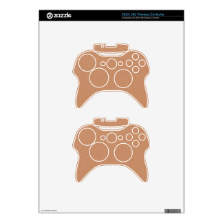 PANTONE Toasted Almond Pink with faux fine Glitter Xbox 360 Controller Skins