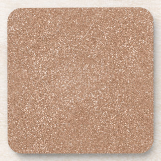PANTONE Toasted Almond Pink with faux Glitter Coaster