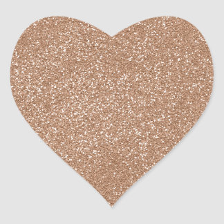 PANTONE Toasted Almond Pink with faux Glitter Heart Sticker