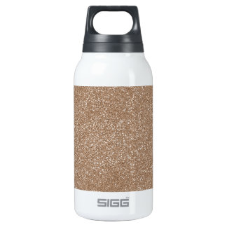 PANTONE Toasted Almond Pink with faux Glitter Insulated Water Bottle