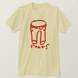 Pants Color Collection Logo Shirt Red/Creme