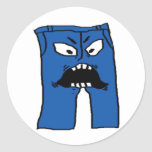 Pants of Rage Classic Round Sticker