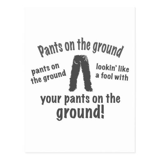 Pants on the Ground! Postcard