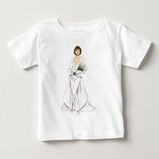 Pantsuit del boda del satén playera de bebé