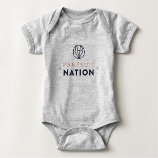 Pantsuit Nation Baby Romper, Heather Gray Baby Bodysuit
