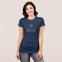 Pantsuit Nation Bella+Canvas Navy T shirt