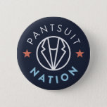 """Pantsuit Nation Button, Navy Button<br><div class=""""desc"""">Pantsuit Nation logo pin in navy.  Show your support for Pantsuit Nation and a more inclusive future everyday</div>"""