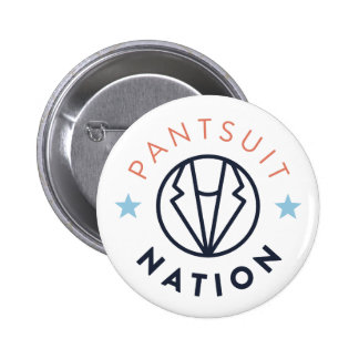 Pantsuit Nation Button, White Pinback Button