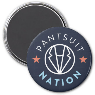 Pantsuit Nation Magnet, Navy 3 Inch Round Magnet