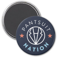 Pantsuit Nation Magnet, Navy Magnet at Zazzle