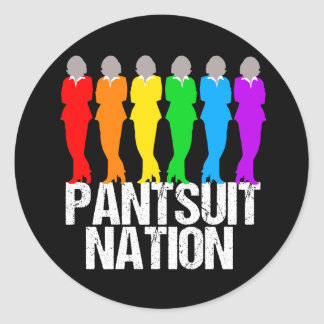 Pantsuit Nation Rainbow Women Classic Round Sticker