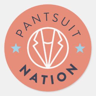 Pantsuit Nation Round Sticker, Orange Classic Round Sticker