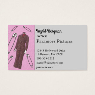 Pantsuits and Safety Pins Business Card