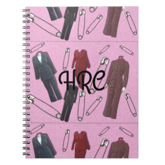Pantsuits and Safety Pins Custom Monogram Notebook