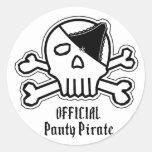 Panty Pirate Round Sticker