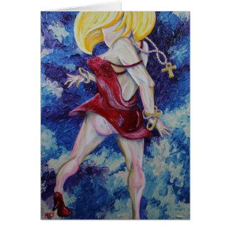 Pantyline, nota del arte del chica de tarjeta