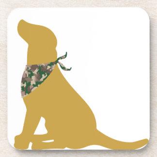 Pañuelo amarillo de Labrador/de Camo Posavasos De Bebida