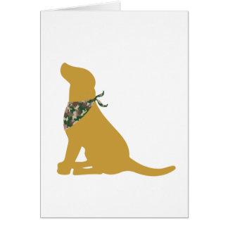 Pañuelo amarillo de Labrador/de Camo Tarjeta De Felicitación