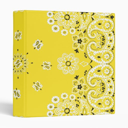 Pañuelo amarillo de Paisley carpeta de anillo de 1