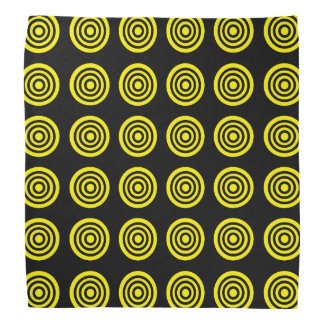 Pañuelo amarillo del negro de la diana bandana