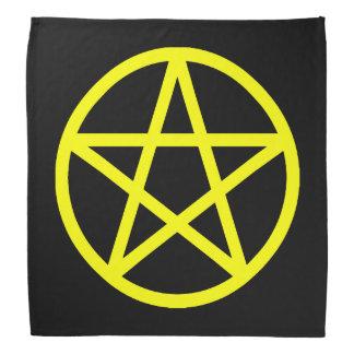 Pañuelo amarillo y negro del pentáculo bandanas