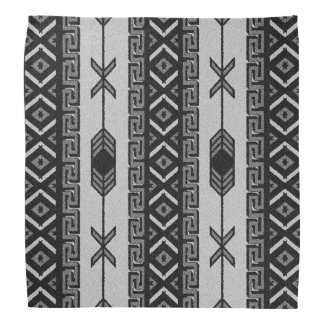 Pañuelo azteca tribal blanco y negro del modelo bandanas