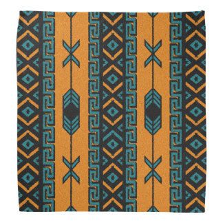 Pañuelo azteca tribal del modelo del naranja y de bandana