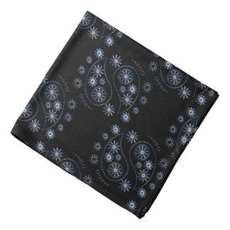 Pañuelo azul colorido del diseño de Paisley Bandanas