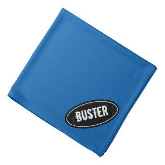 Pañuelo azul del perro con nombre del animal de bandana