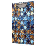 Pañuelo azul del vaquero con arte de la teja de mo