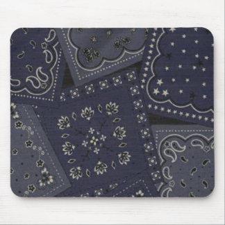Pañuelo azul Mousepad del vaquero
