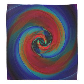pañuelo azul/rojo de 3D de Spirial por Krystyna Bandanas