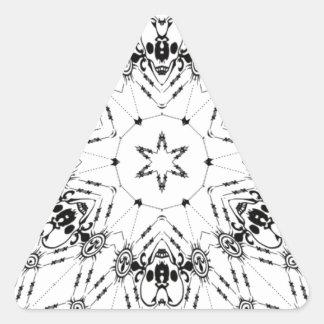 pañuelo blanco como diseño con los cráneos pegatina triangular