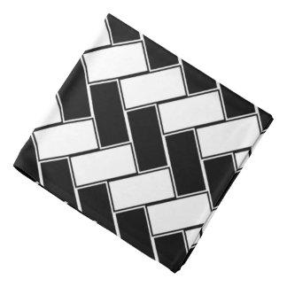 Pañuelo blanco y negro de la raspa de arenque bandana