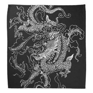 Pañuelo blanco y negro del dragón bandana