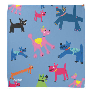 Pañuelo colorido loco de los perros por el tintóre bandanas