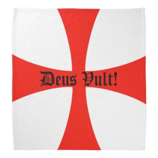 ¡Pañuelo cruzado de los cruzados, Deus Vult! Bandanas