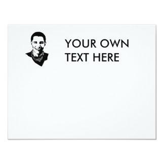"""Pañuelo de Barack Obama Invitación 4.25"""" X 5.5"""""""