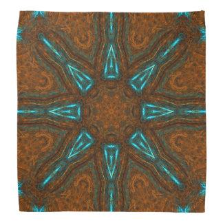 Pañuelo de cobre de la mandala de la bóveda del bandana