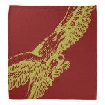 Pañuelo de Guzzi Eagle - oro en marrón Bandanas