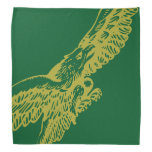 Pañuelo de Guzzi Eagle - oro en verde Bandanas