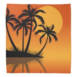 Pañuelo de la diversión de la playa de la puesta d bandana